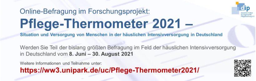 """Befragung in der unabhängigen Studie """"Pflege-Thermometer 2021 – Situation und Versorgung von Menschen in der häuslichen Intensivversorgung in Deutschland"""""""