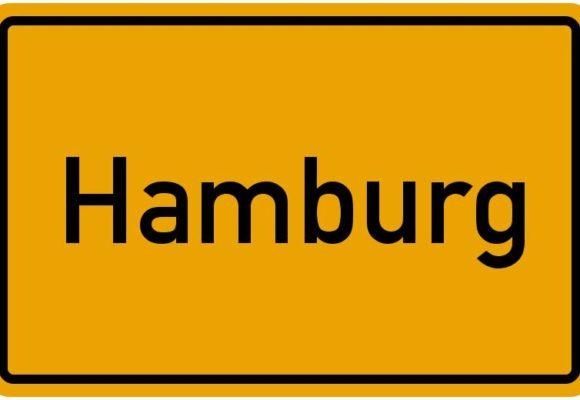 Ortseingangsschild Hamburg