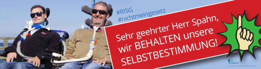 """Banner """"Für den Erhalt der Selbstbestimmung"""""""