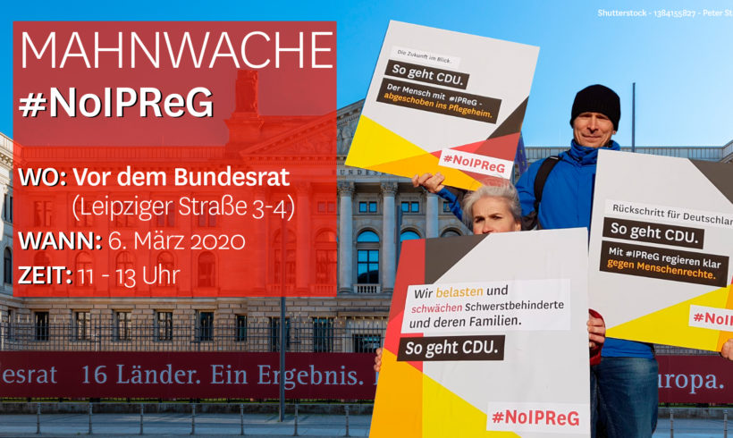 29. IPReG Mahnwache: Selbstbestimmung für ALLE!