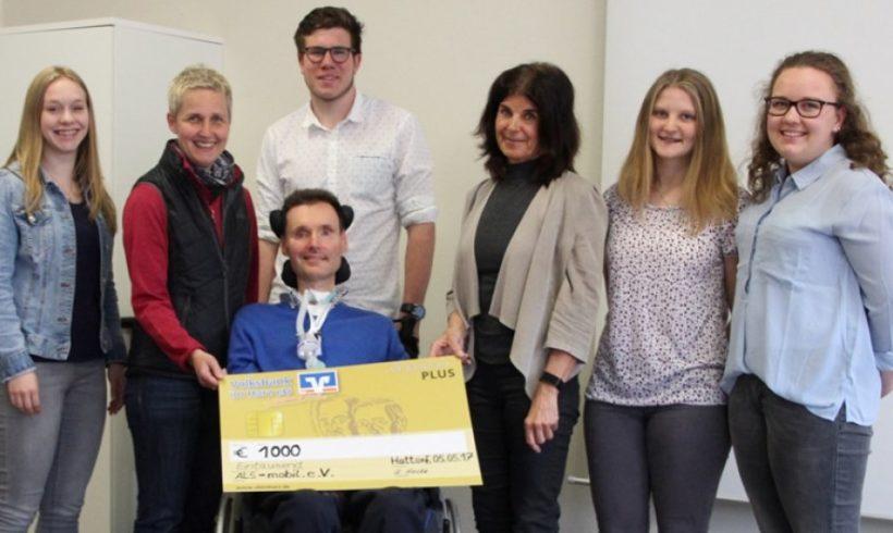 Oberschule Hattorf spendete 1 000 Euro an ALS-mobil e.V.