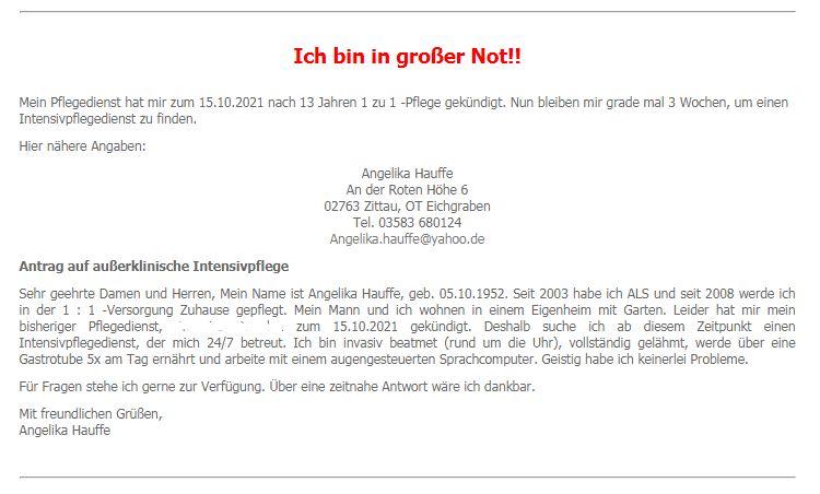 Intensivpflegedienst DRINGEND in Zittau gesucht !