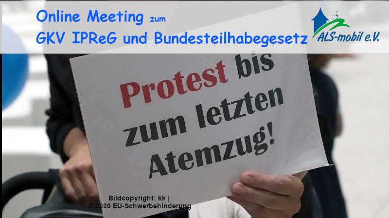 Online Meeting zum GKV-IPReG und Bundesteilhabegesetz