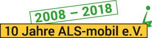 2008 - 2018: 10 Jahre ALS-mobil e.V.: Visual zum Jubiläum