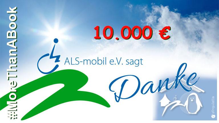 #MoreThanABook – Spendenprojekt des pinguletta Verlags für ALS-Patienten – Ein voller Erfolg !