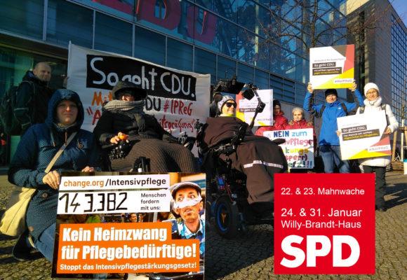 Protestiernde vor der CDU Zentrale